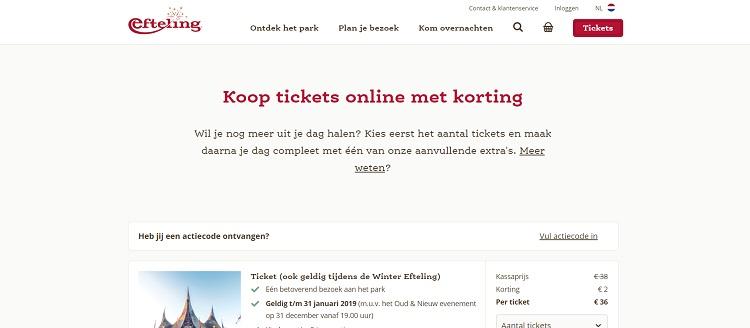 Efteling tickets 1